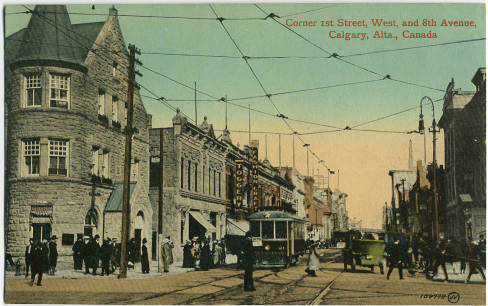 Calgary's Stephen Avenue circa 1907-1912 (Photo:  Calgary Public Library Postcards from the Past )