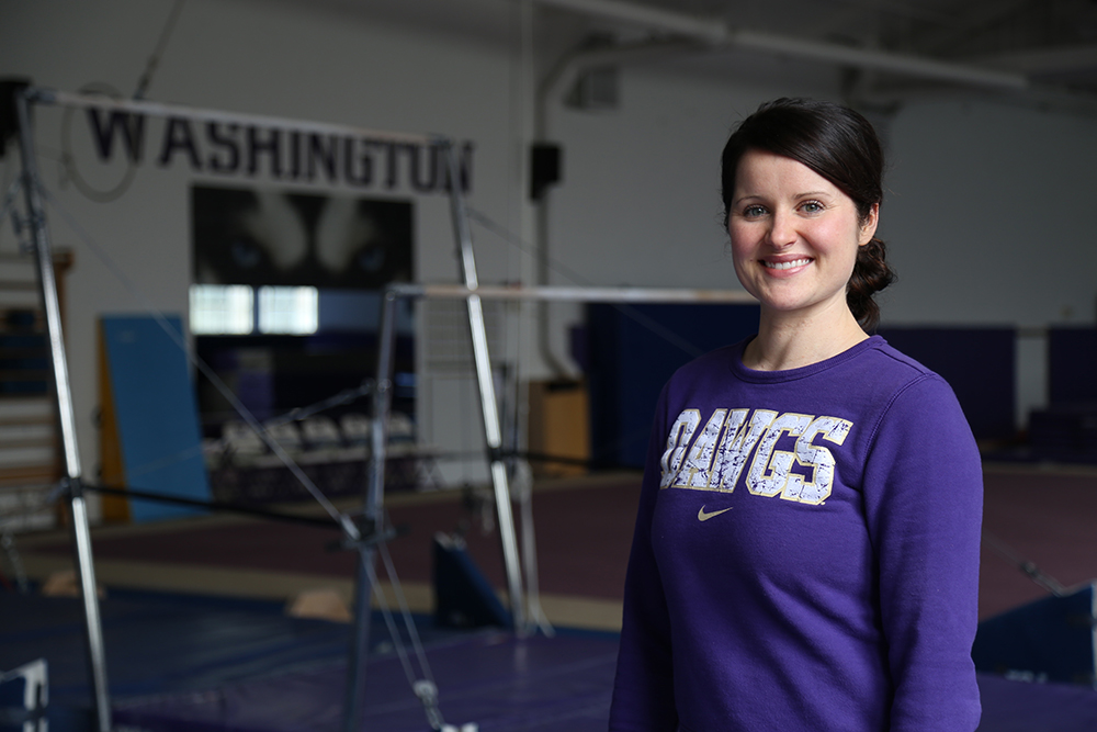 Elise Ray sets high bar in historic first season coaching UW Gymnastics