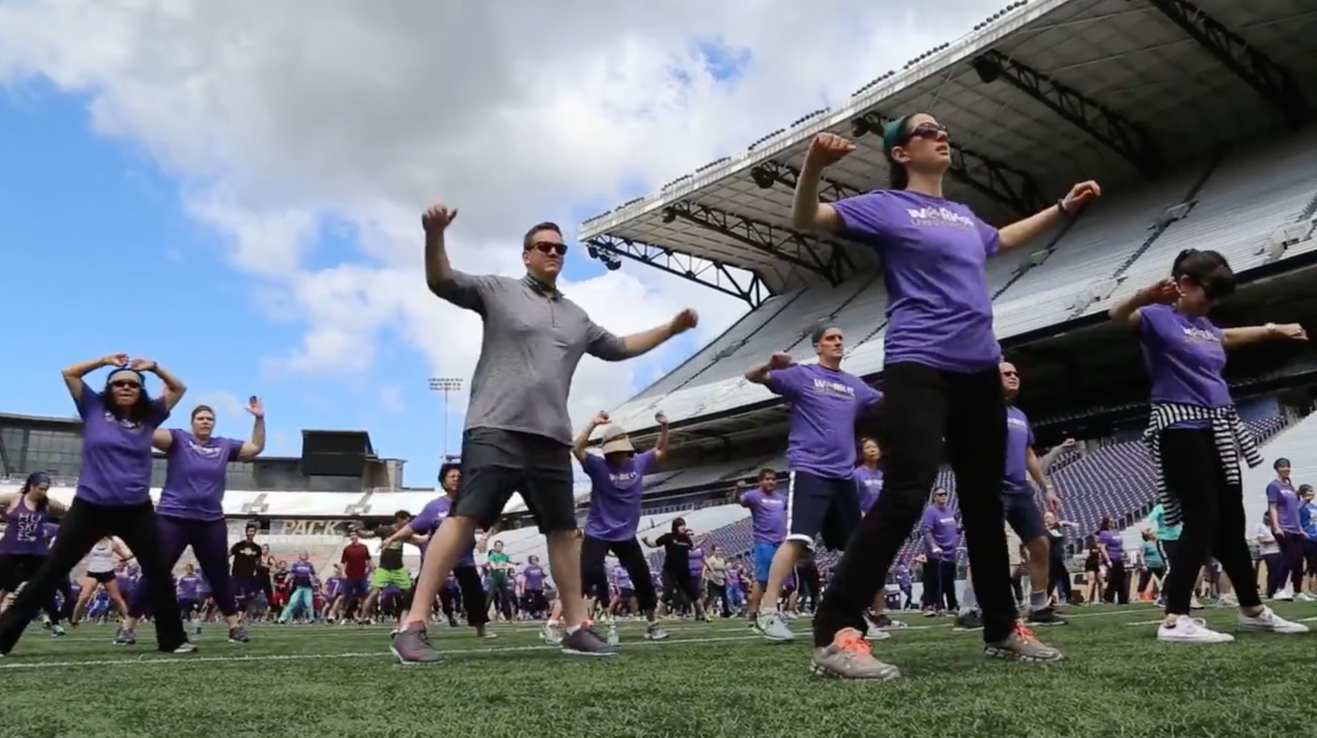 UW Fitness Day 2017 - On May 24, hundreds took the field at Husky Stadium to celebrate fitness' many forms