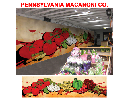 This design was submitted by Yuri Von for the Pennsylvania Macaroni Co. Mural.