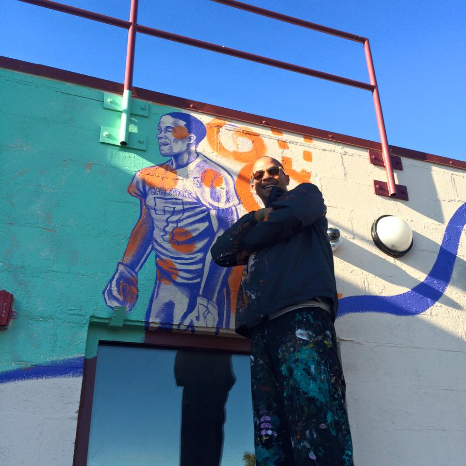 Photo Courtesy of The Center that CARES; picture of Kyle Holbrook Founder of MLK Community Mural Project