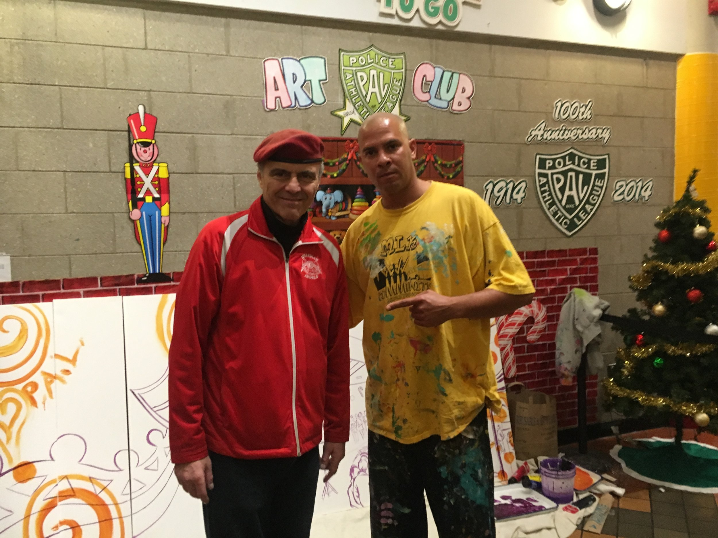 Curtis Silva of the Guardian Angels and a prominent Anti- Crime Activist and Artist Kyle Holbrook.
