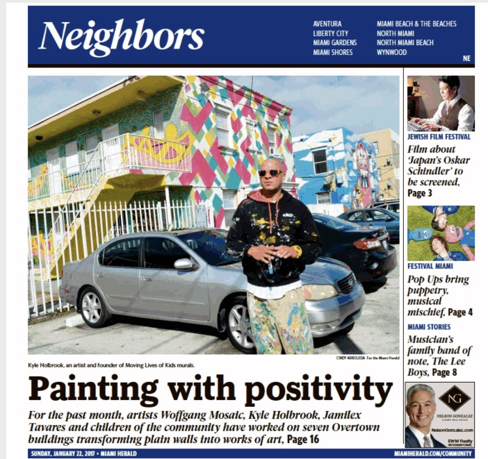 Kyle Holbrook on Miami Herald Cover 2017