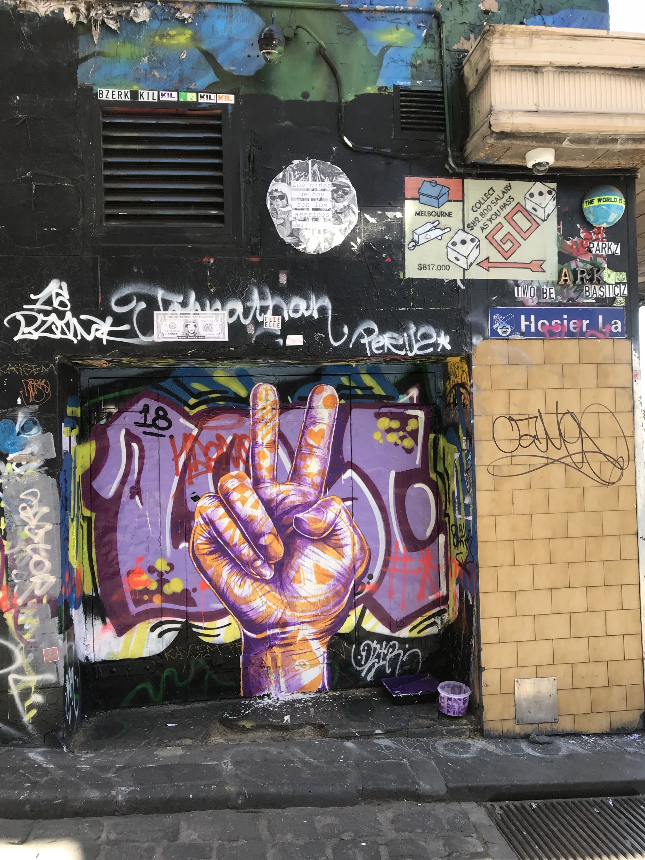 Melbourne, Australia on Hosier Lane by Kyle Holbrook