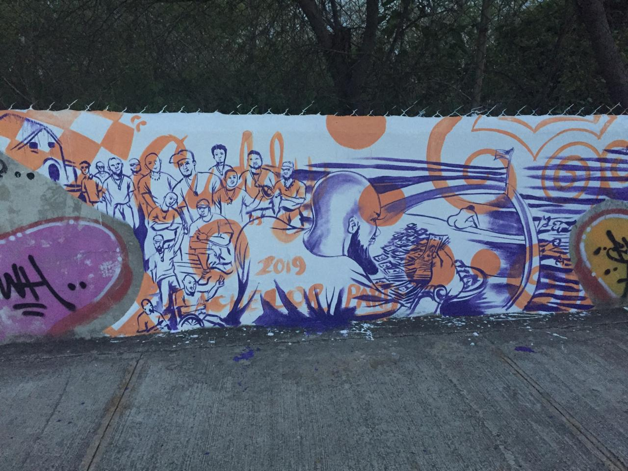 """""""Cuddy O's"""" mural in Punta Cana by Kyle Holbrook"""