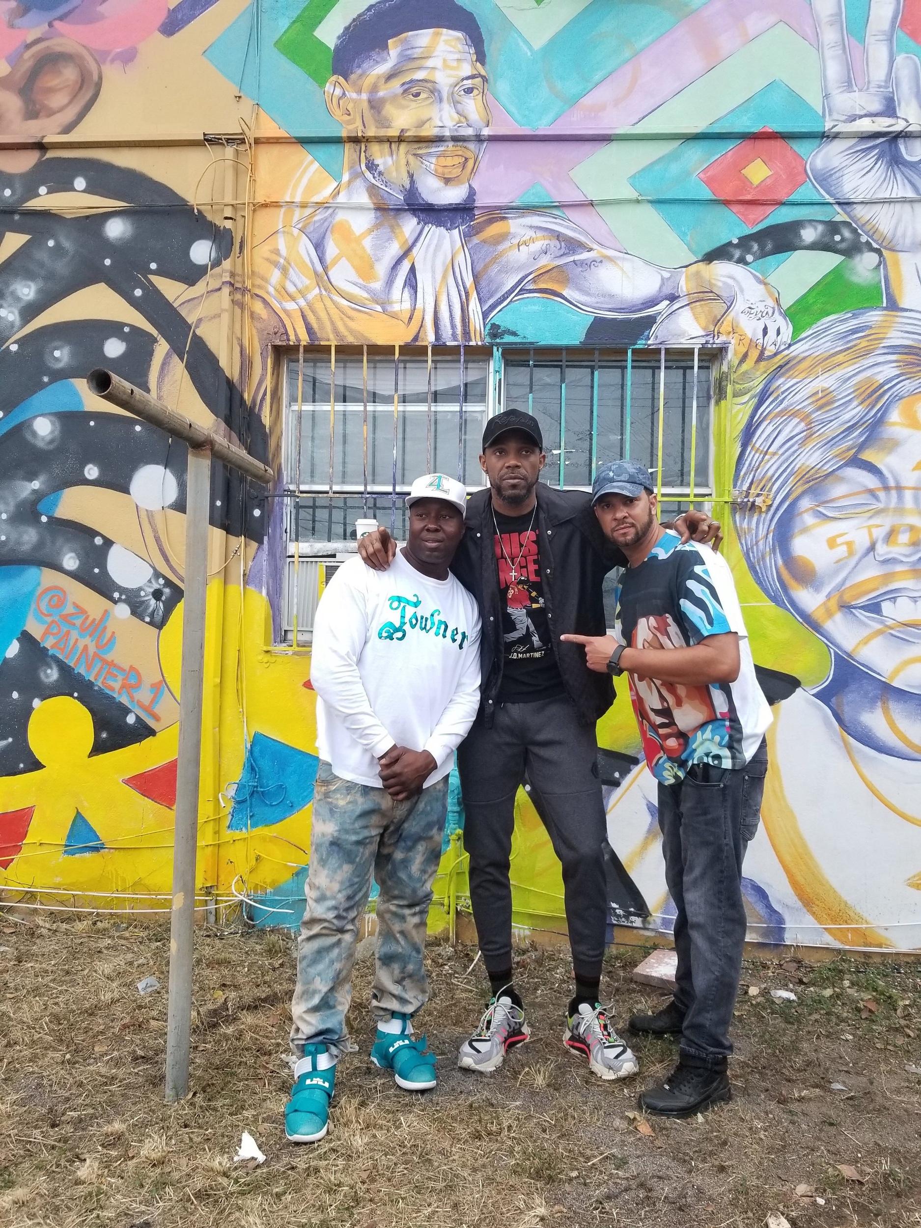Buckwheat, Udonis Haslem and Kyle Holbrook