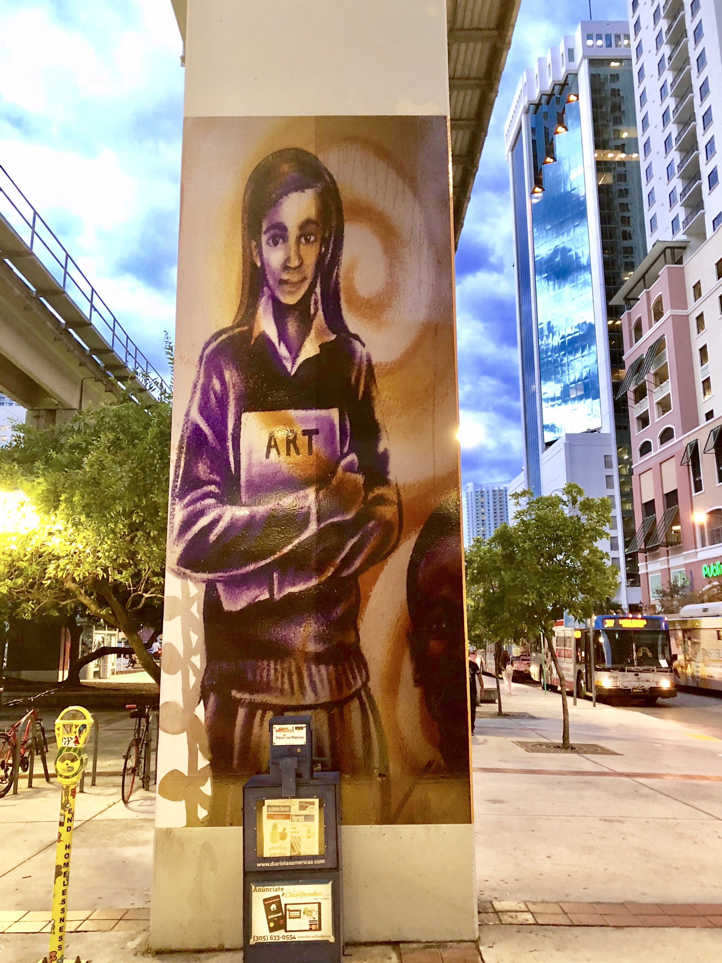 Brickell MURAL - by KYLE HOLBROOK sponsored by Pinnacle Communities special thank you to Louis Wolfson III