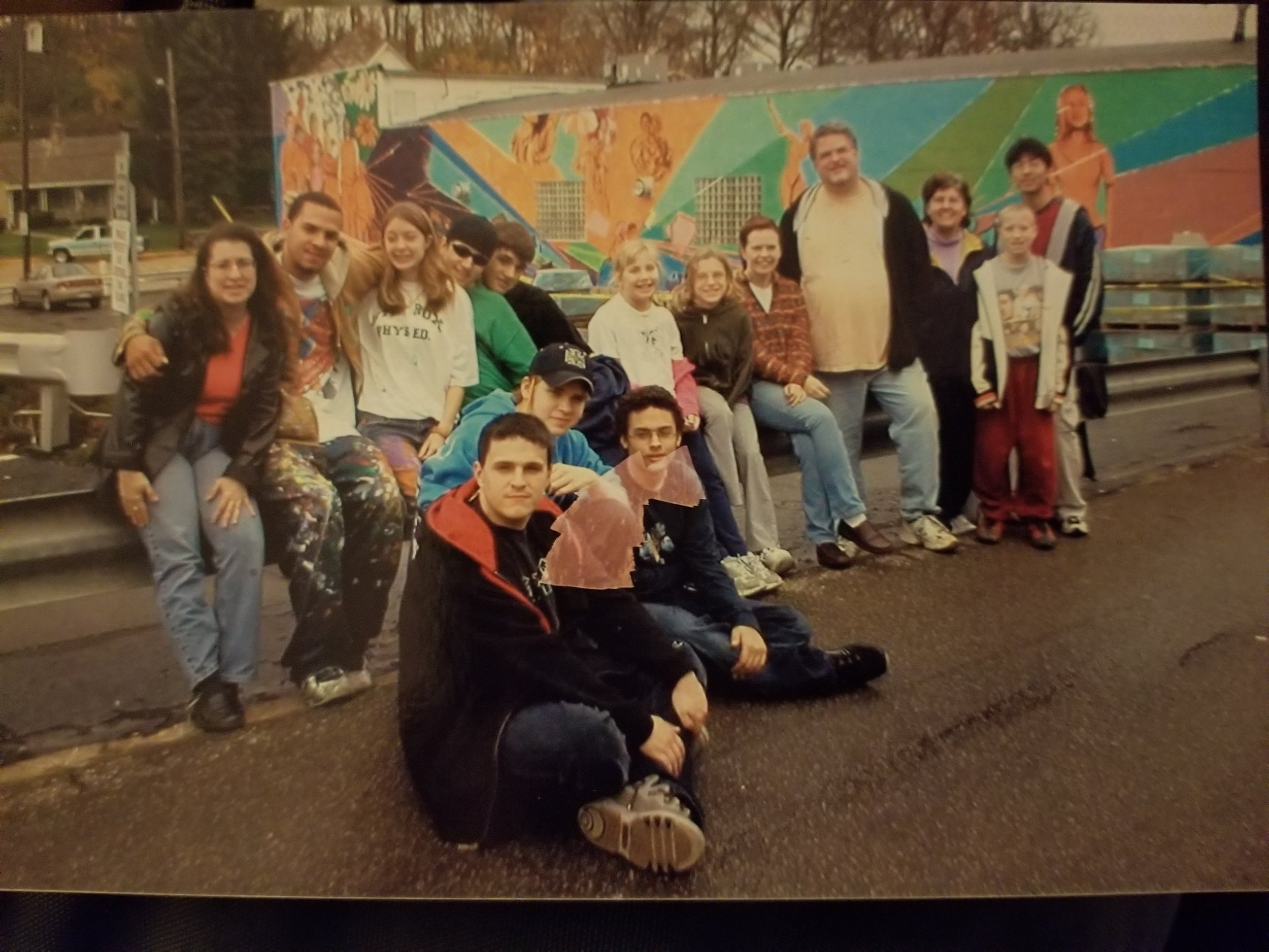 McKees Rocks Tobacco Free Allegheny Mural - The mural with Focus on Renewal was to bring attention to the dangers of Tobacco use.Special Thanks to father Ryan.