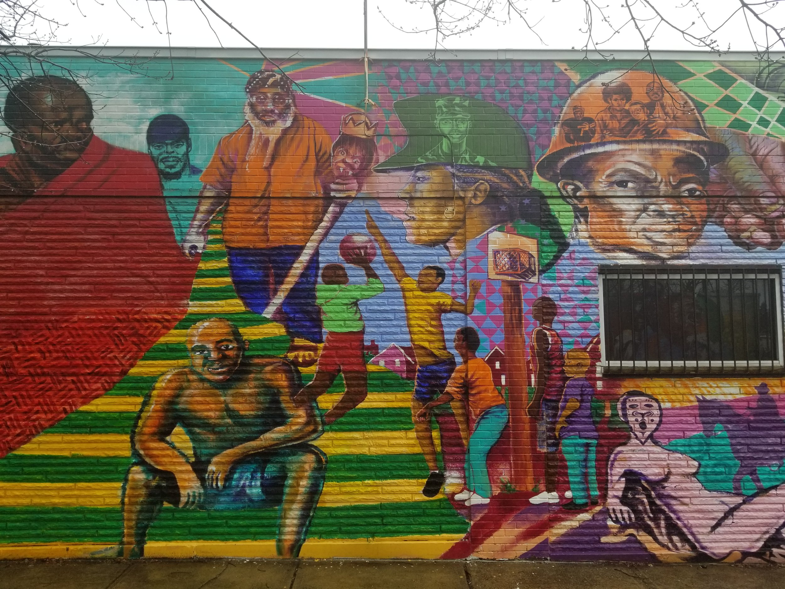Strength Inc Mural by Kyle Holbrook, Chris Savido and Goerge Gist