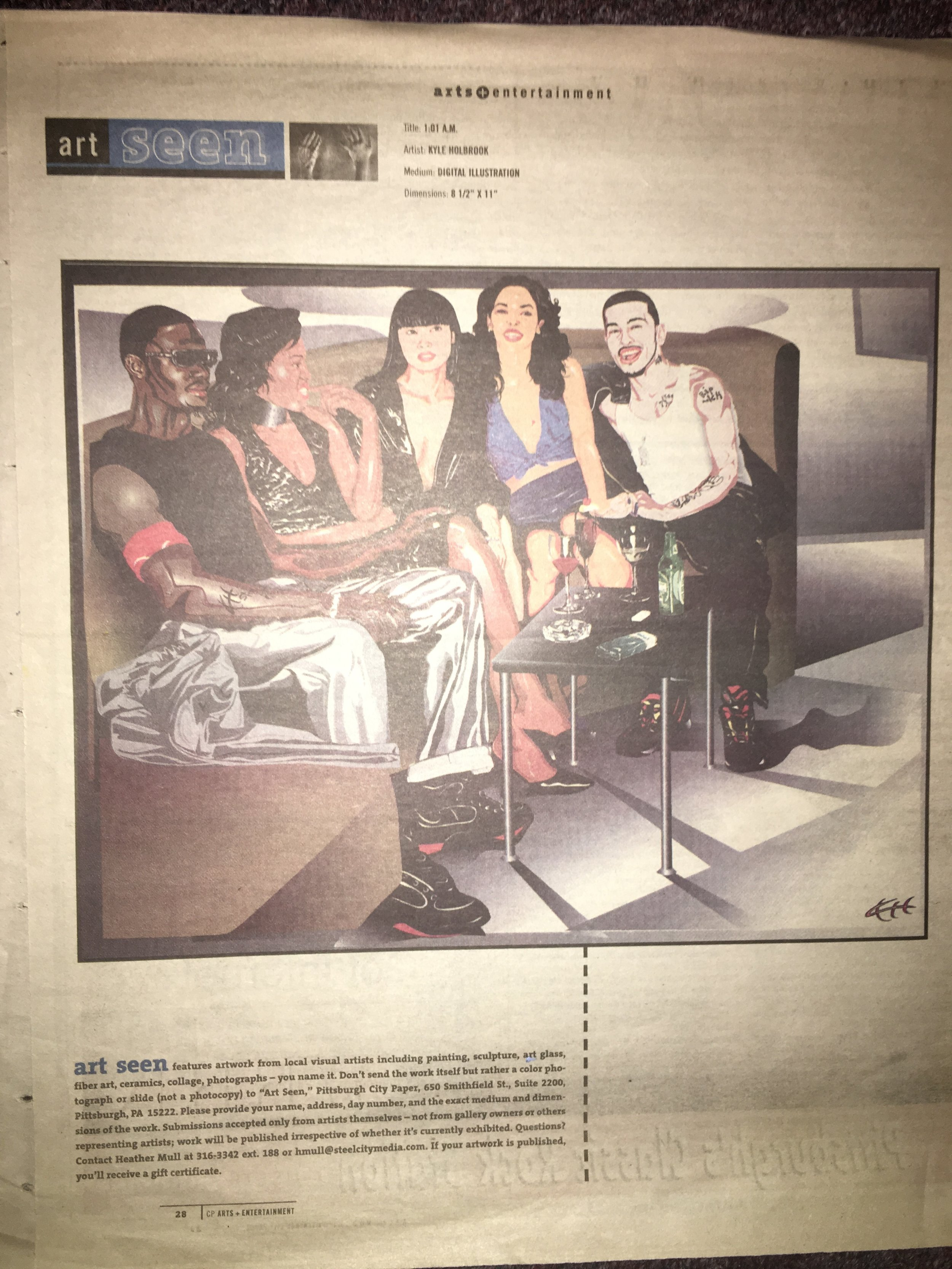 """Kyle Holbrook featured in 2002 City Paper """"Art Seen"""""""