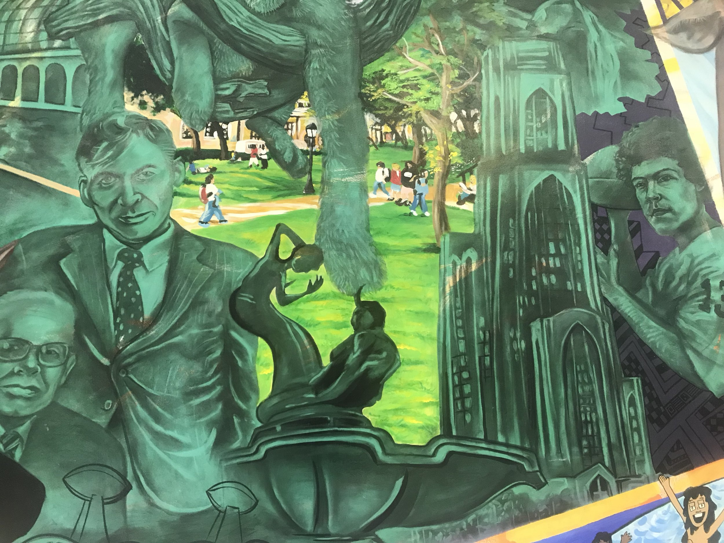 Monroeville Mall Mural (detail) 2003 by Kyle Holbrook and Billy Solomon