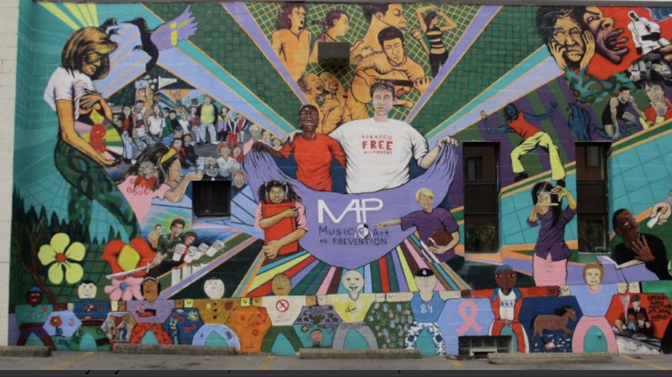 McKees Rocks Allegheny Health Center mural 2005 by Kyle Holbrook