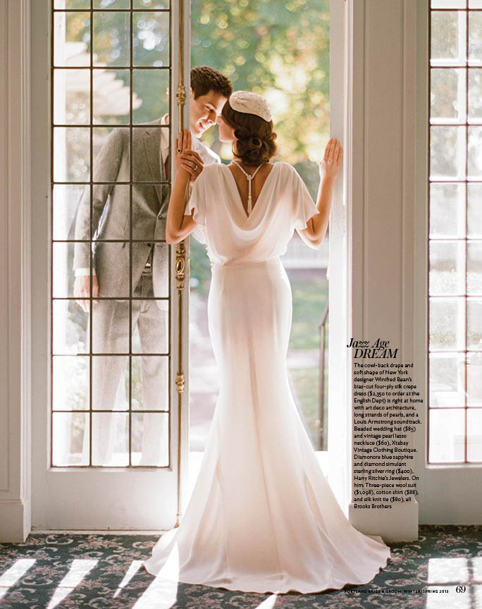 PORTLAND BRIDE AND GROOM, SPRING 2013   the  Audrey Dress