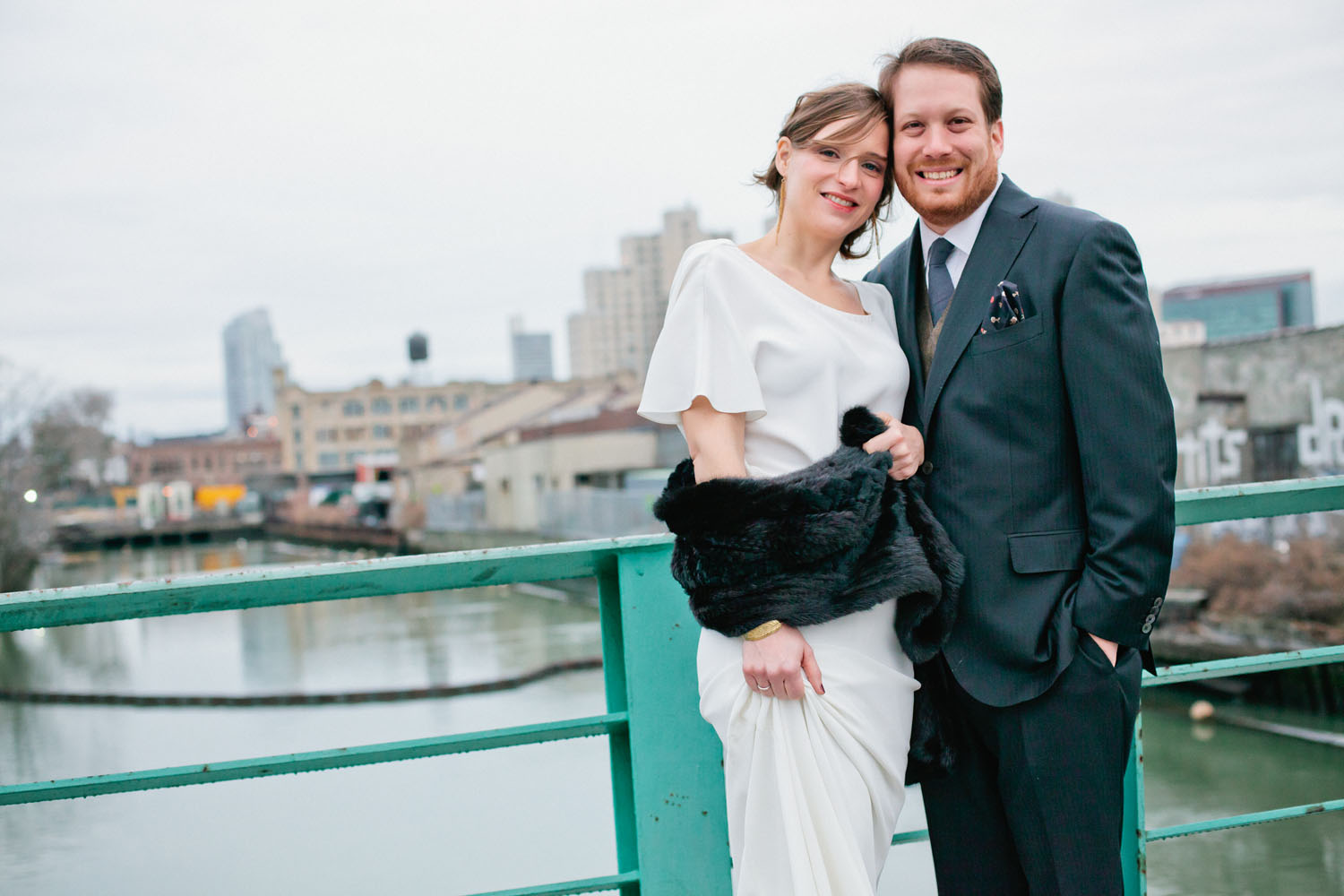 bride wearing Winifred Bean Audrey dress
