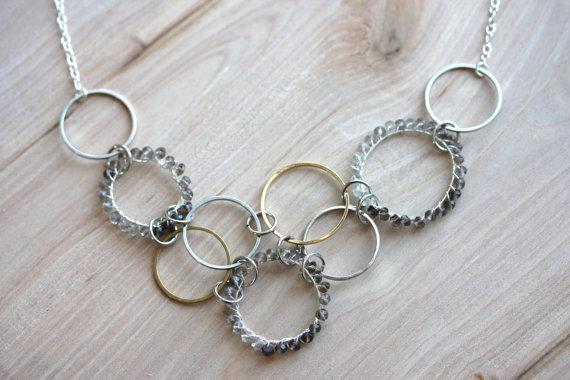 Quartz Circles Necklace