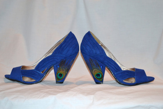 Something Blue Peacock Shoes