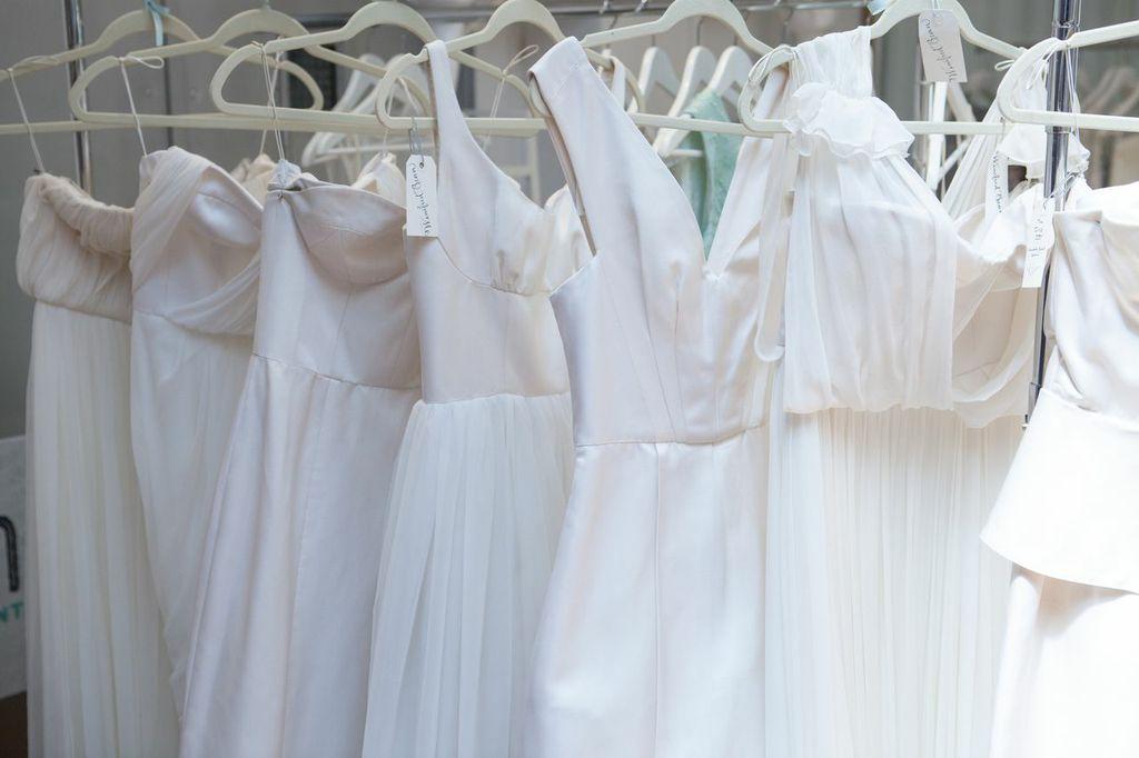 The dresses...