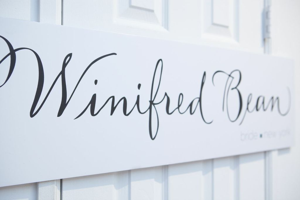 Wed Altered Winifred Bean sign