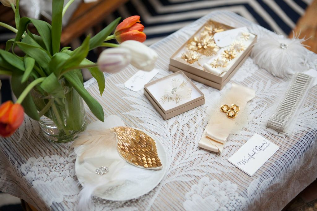 The beautiful accessories Thea from Hushed Commotion designed for my line!