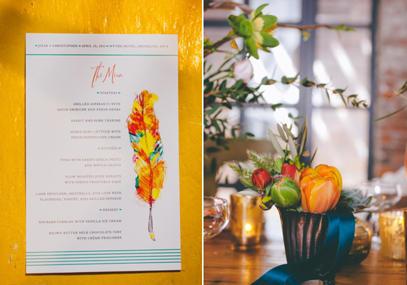 neon wedding stationary