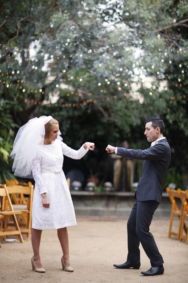 vintage wedding, bride and groom