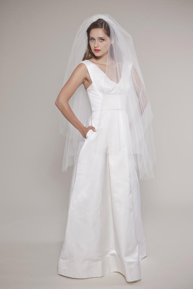 taffeta vintage style wedding dress