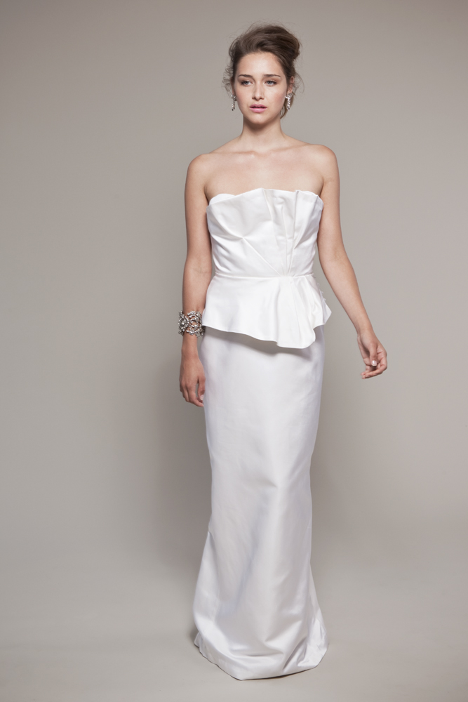 vintage-inspired satin wedding dress