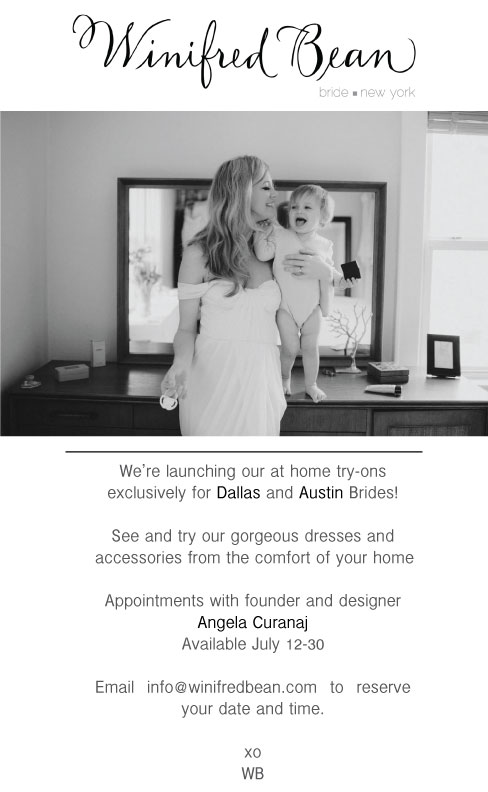 wedding dress fitting at home in Dallas and Austin, Texas
