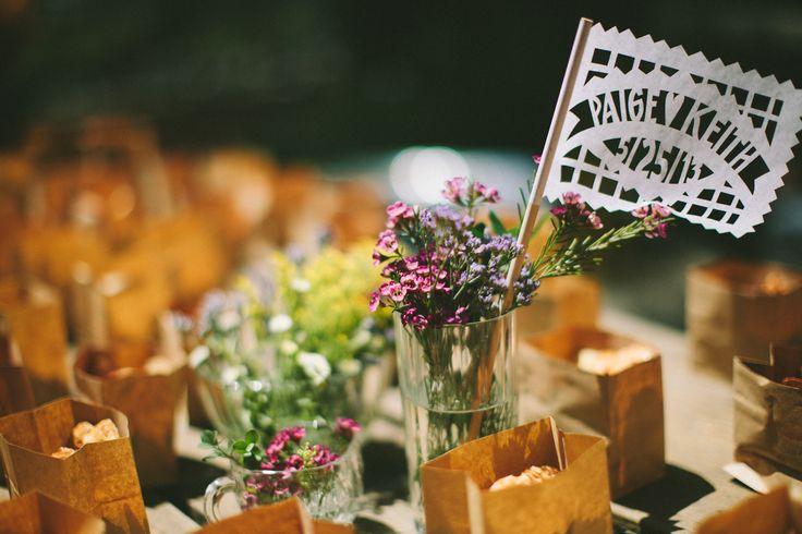 wedding table centerpiece boho wedding