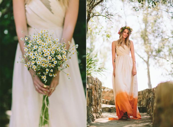 bride in dipped hem wedding dress