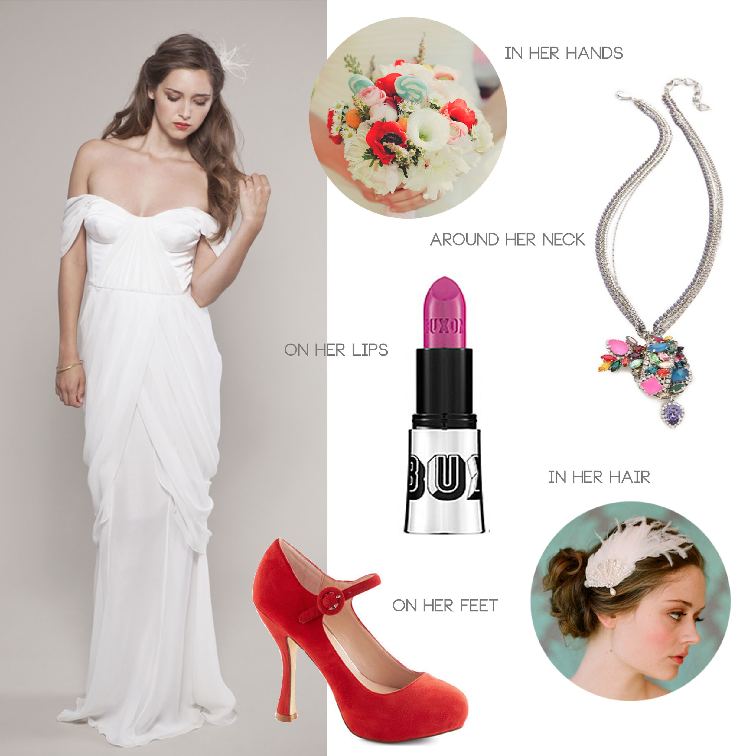 county fair inspired bridal style with winifred bean tulipe dress