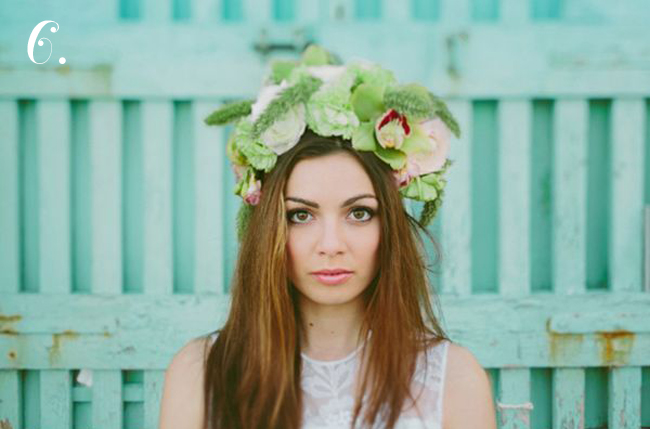 oversized floral crown