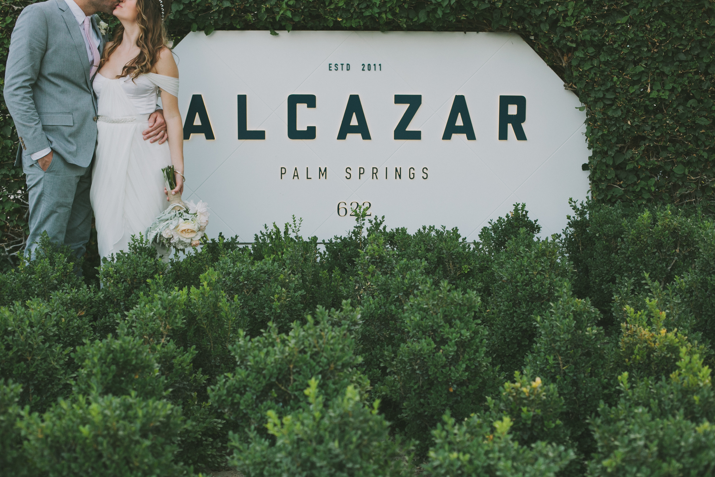 Hotel Alcazar wedding, bride wearing Winifred Bean's Tulipe wedding dress