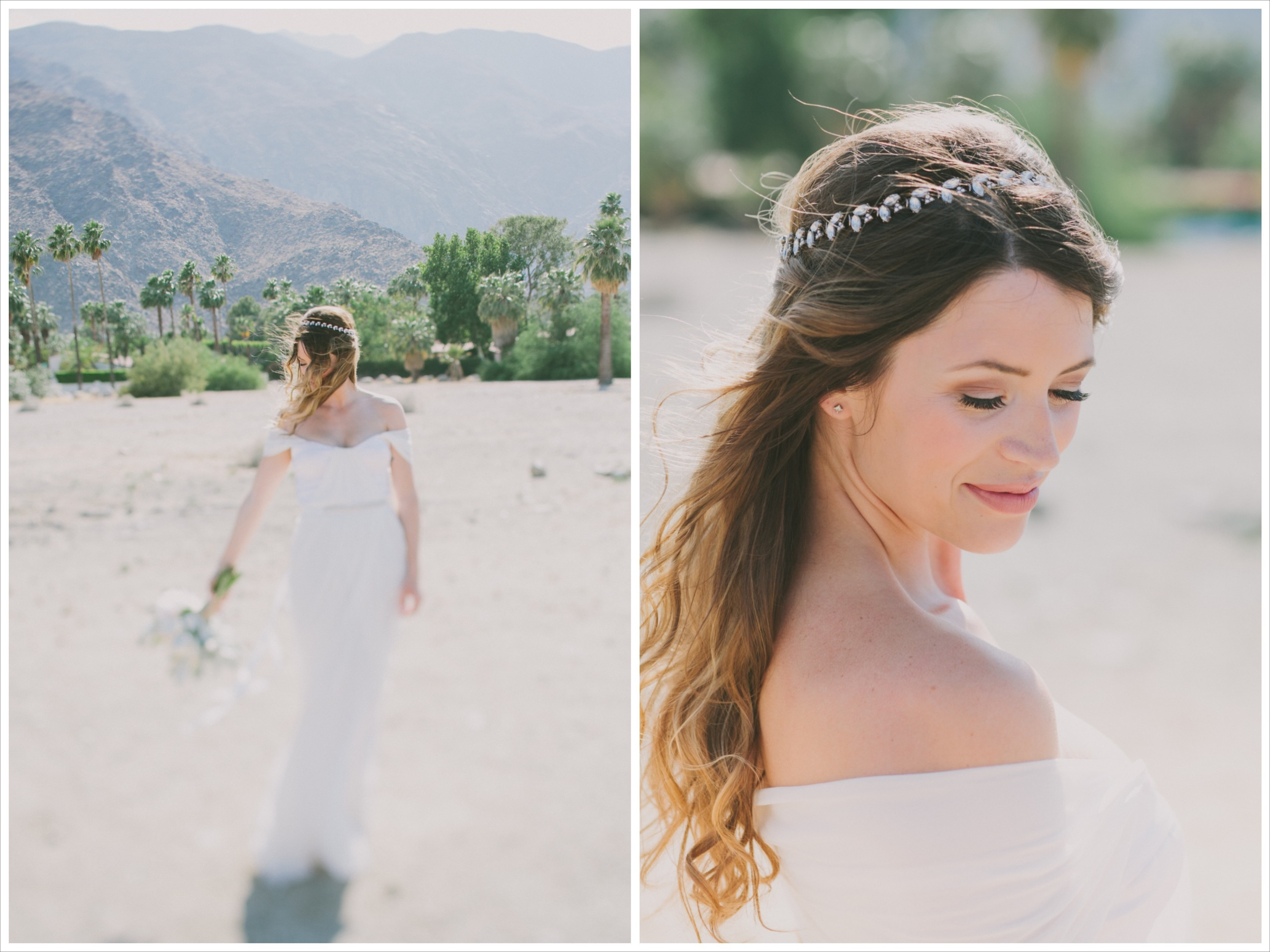 Winifred Bean real bride close-up in Palm Springs, CA