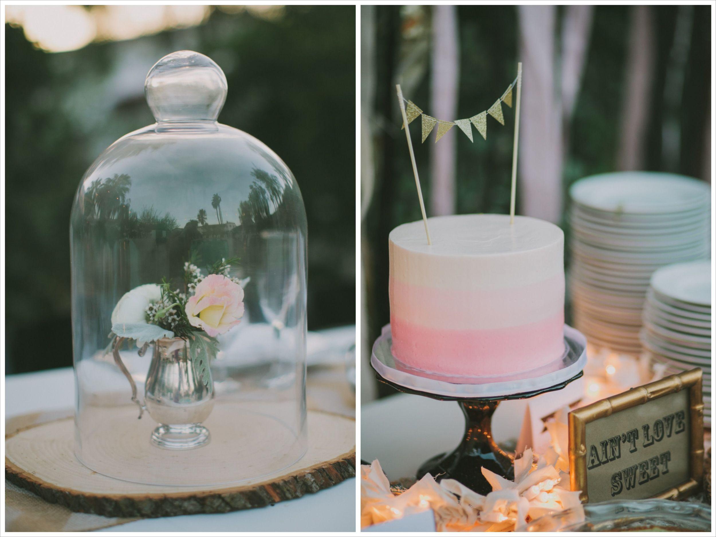wedding cake and decor from Hotel Alcazar Palm Springs wedding