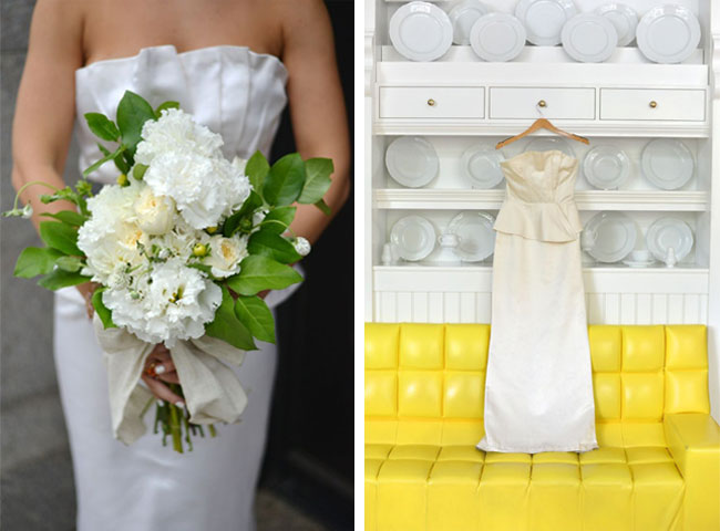 bridal bouquet yellow wedding inspiration winifred bean gown