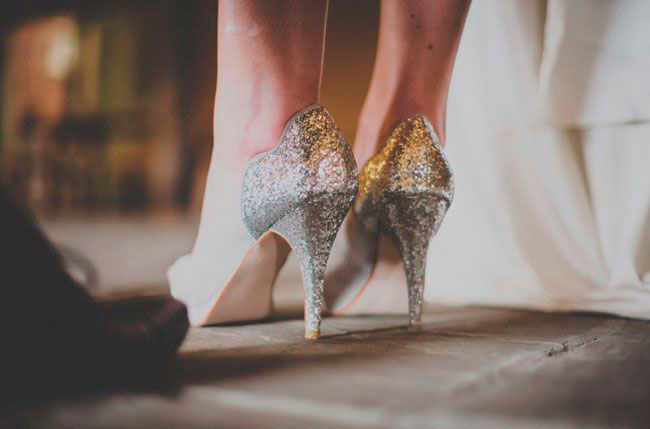 sparkle heel bridal shoes