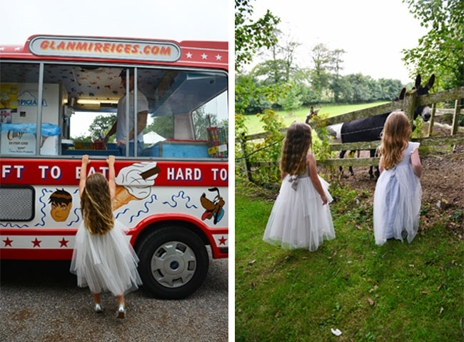 ireland wedding, real wedding, ice cream