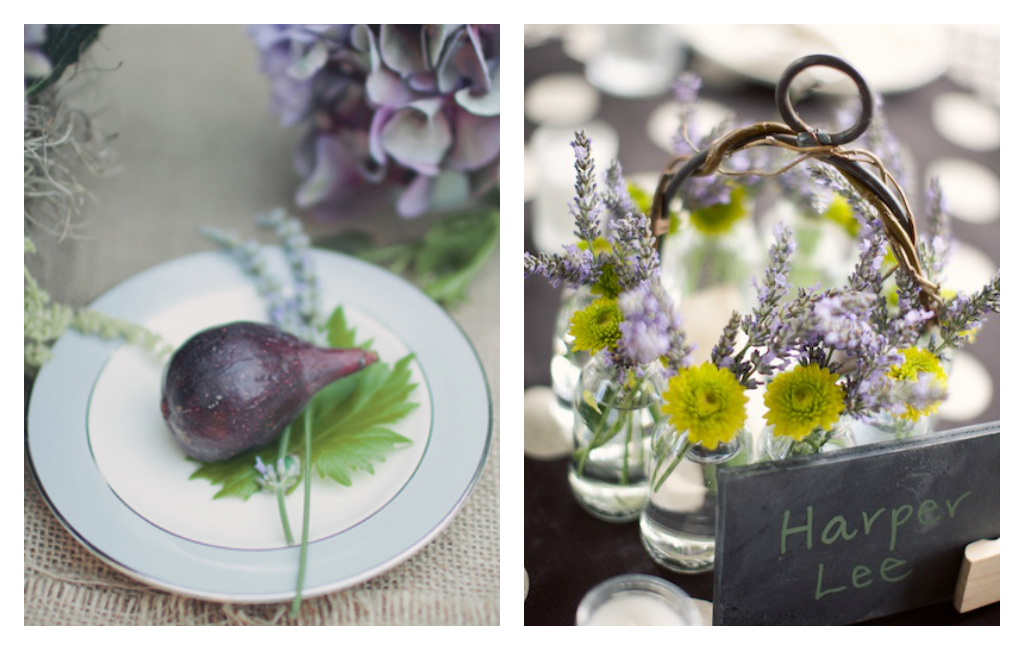Lavender, Purple, Wedding, Bridal, Decor, Centerpieces, Fruit, Flowers, Table