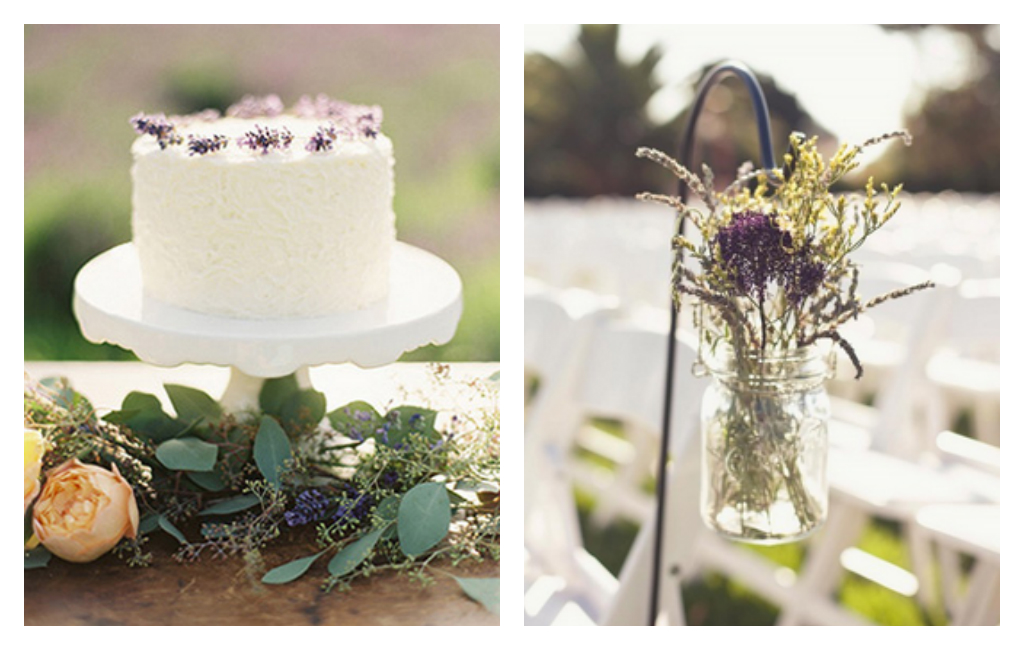 Wedding, Bridal, Cake, Lavender, Purple, Decor, Aisle, Flowers