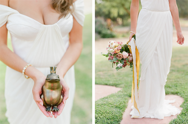 winifred bean tulipe gown, magnolia rouge, gold shoot