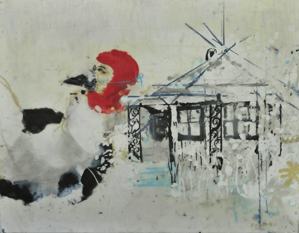 Self Portrait as Redheaded Woodpecker