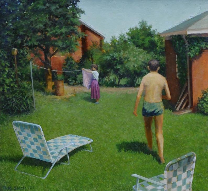 Summertime Backyard