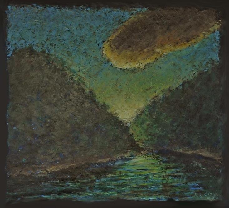 River in Moonlight