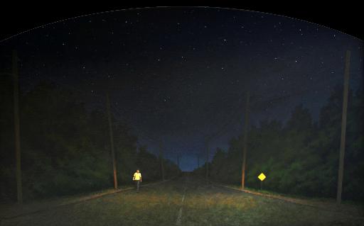 Boy on Highway