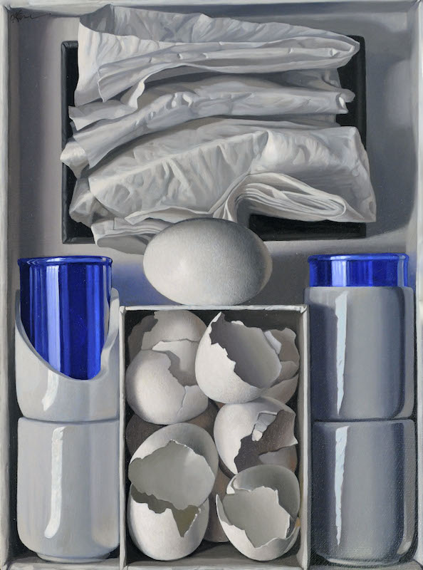 Eggs with Cobalt Glasses