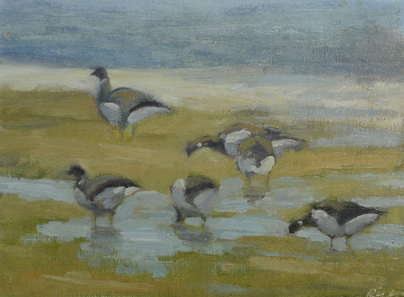 "Brant- Spring Light   , Oil on Panel, 6""x 8"""