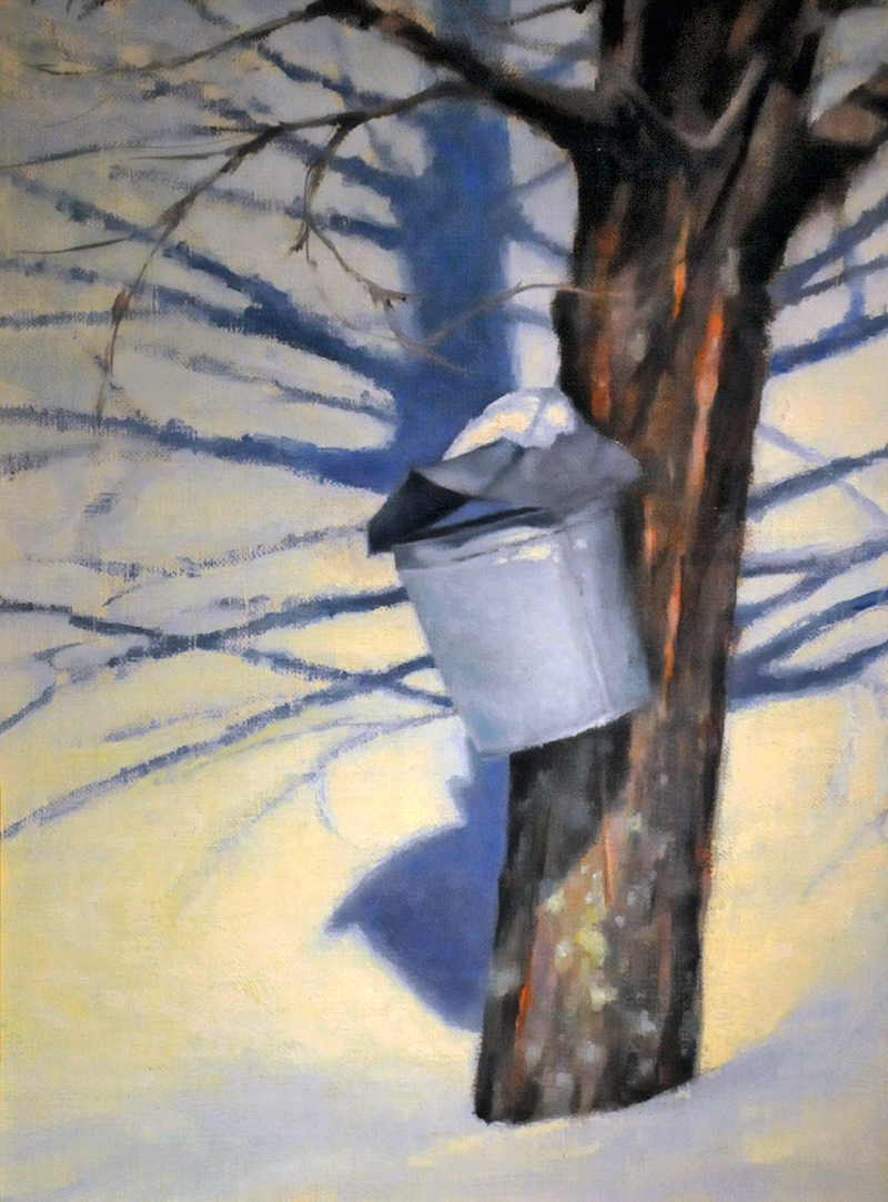 "Sugar Maple   , Oil on Panel, 9""x 12"""
