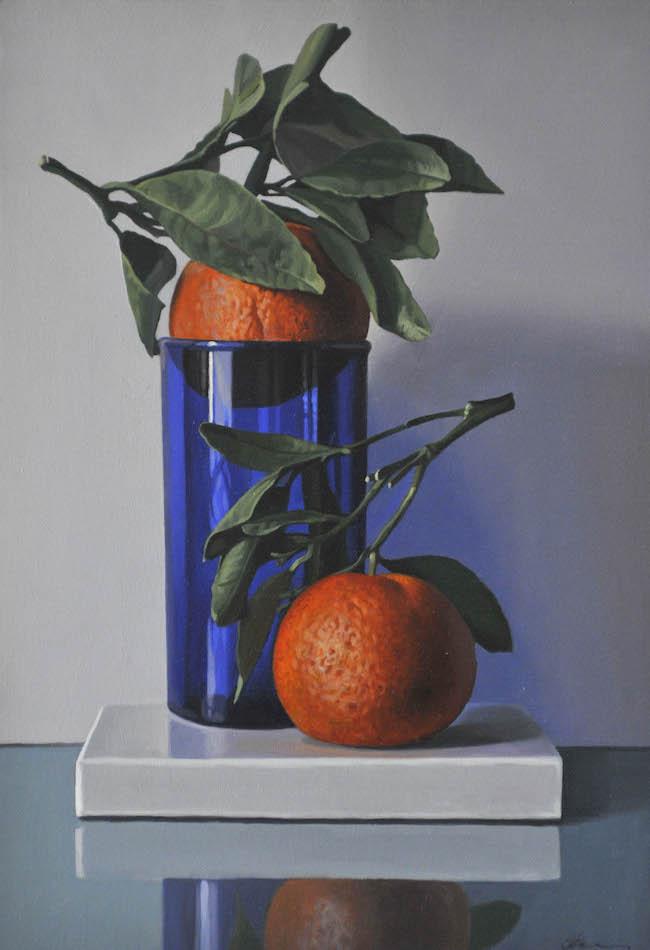Oranges and Cobalt Glass