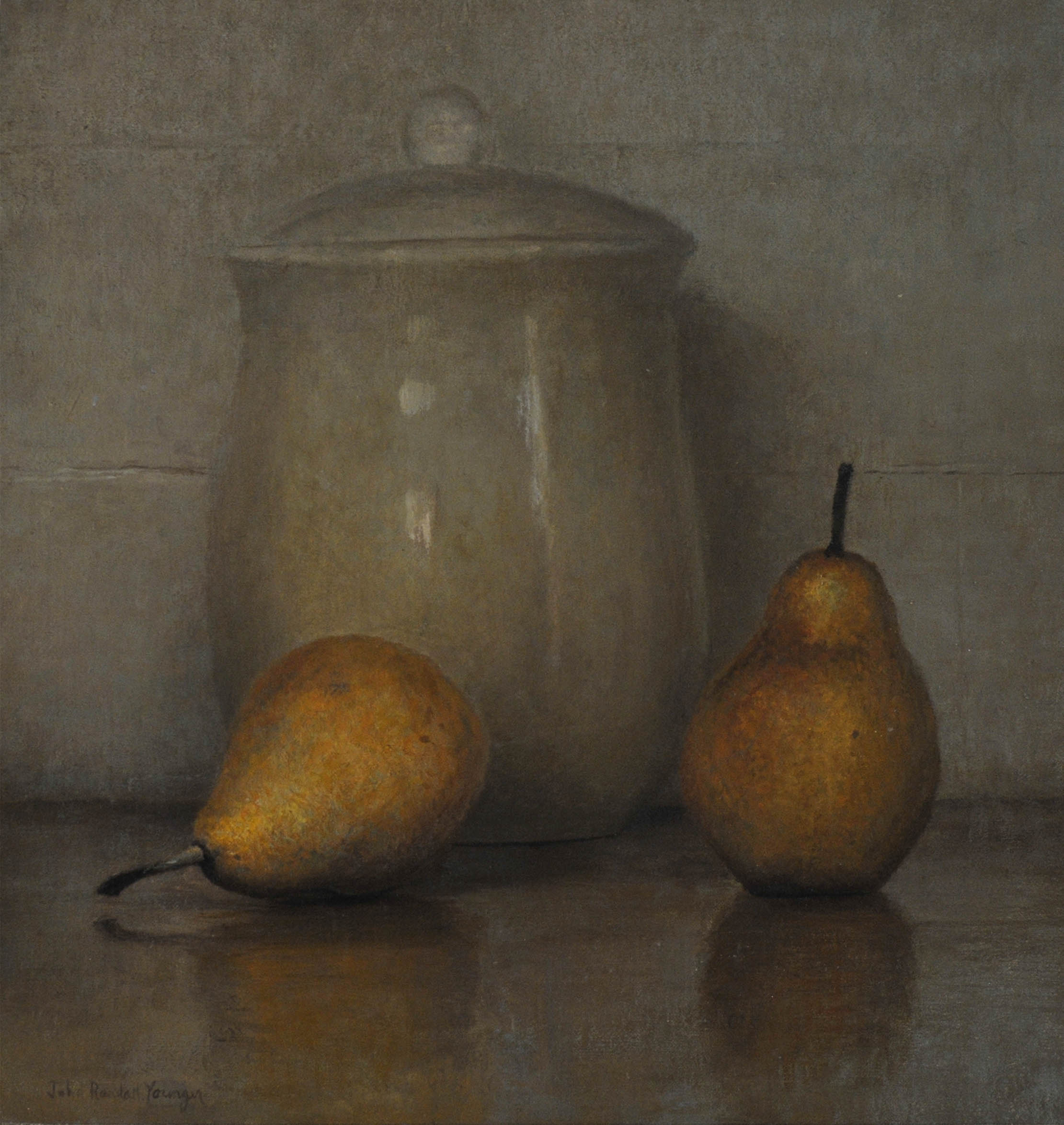 Pears and Jar